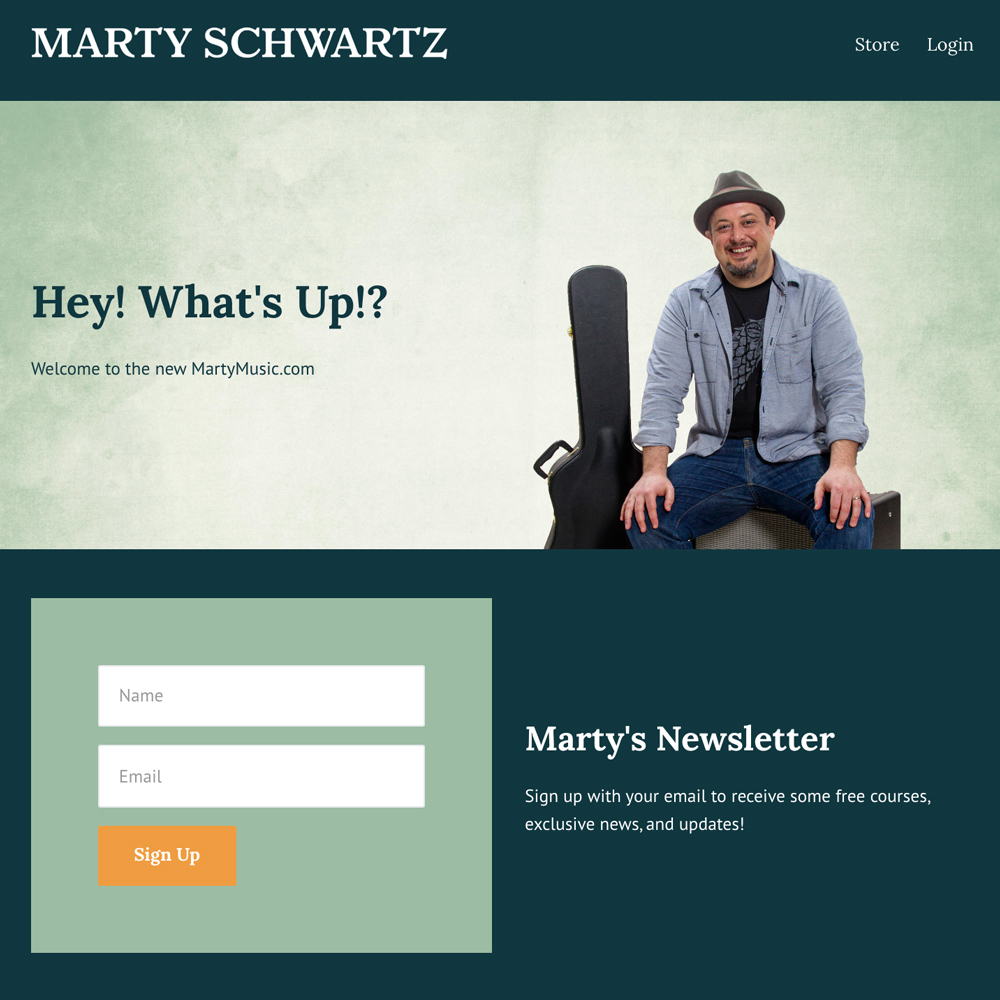 Marty Music Website